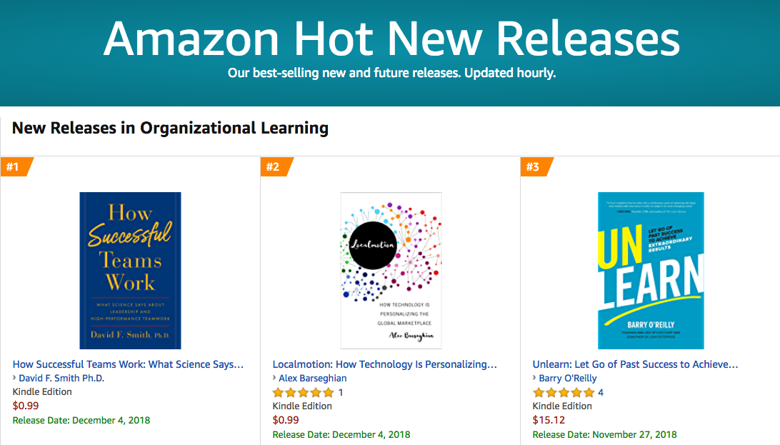 David Smith 1 Amazon Hot New Release Organizational Learning